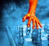Stratégie chinoise d'échecs d'affaires du monde de la Chine photos stock