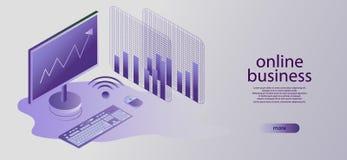 stratégie commerciale de concept Données et investissement d'analyse Business illustration de vecteur