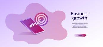 stratégie commerciale de concept Données et investissement d'analyse Business illustration stock