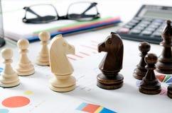 Stratégie commerciale financière d'échecs Image stock