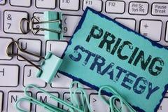 Stratégie d'évaluation des textes d'écriture Les stratégies de ventes de vente de signification de concept profitent la campagne  images libres de droits