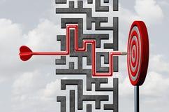 Stratégie de but d'affaires illustration de vecteur