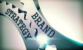 Stratégie de marque - mécanisme des vitesses en métal 3d illustration libre de droits