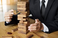 Stratégie de planification, de risque et de richesse dans le concept d'affaires, affaires image stock