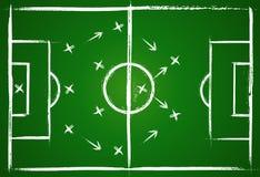 Stratégie de travail d'équipe du football Image libre de droits