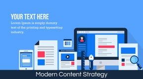 Stratégie marketing de Digital - idée satisfaite de promotion Photographie stock