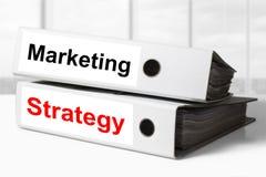 Stratégie marketing de reliures de bureau Images stock