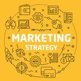 Stratégie marketing linéaire d'illustration Photos libres de droits