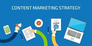 Stratégie marketing satisfaite, données, analyse, développement, concept de recherches Bannière plate de vecteur de conception Images libres de droits