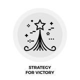 Stratégie pour Victory Line Icon Images stock
