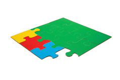 Stratégies de puzzle de couleur Photographie stock libre de droits