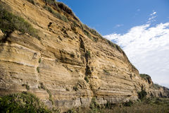 Strata within the cliff Stock Photography