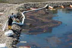 Strata olej od instalaci naftowej Zdjęcie Royalty Free