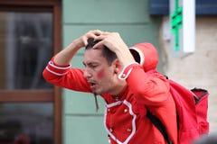 Stratching Haarläuse Lizenzfreies Stockbild