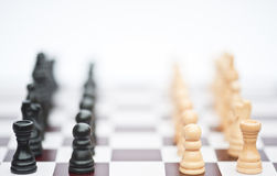 strategi för lek för affärsschackbegrepp Royaltyfri Fotografi