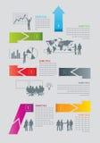 Strategi för planläggning för affärsplan Vektor Illustrationer