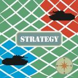 strategi kriger royaltyfri illustrationer