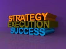 Strategi, utförande och framgång Arkivbild