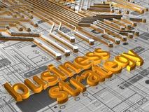 Strategia aziendale - 3D Fotografia Stock