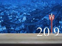 Strategia biznesowa nowego roku szczęśliwy 2019 pojęcie obraz stock