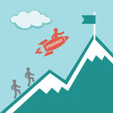 strategia Concetto di affari Immagine Stock