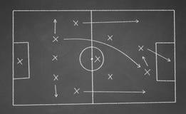 Strategia del gioco di calcio Immagini Stock