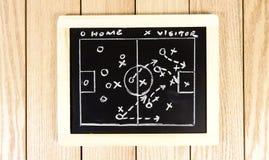 Strategia del gioco di calcio che assorbe lavagna Immagine della foto Immagine Stock
