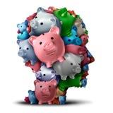 Strategia della Banca e pensiero finanziario Fotografia Stock Libera da Diritti
