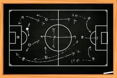Strategia della partita di football americano o di calcio immagine stock