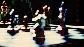 Strategia di gestione del denaro per il commercio nei forex o nel mercato azionario video d archivio