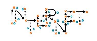 Strategia di Internet scritta in inglese sul bordo di tattica Fotografie Stock Libere da Diritti