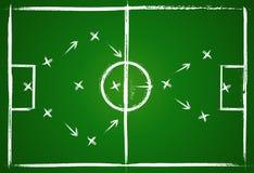 Strategia di lavoro di squadra di gioco del calcio Immagine Stock