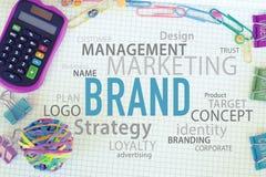 Strategia di marketing del marchio fotografie stock