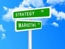 Strategia di marketing intersecata fotografia stock libera da diritti