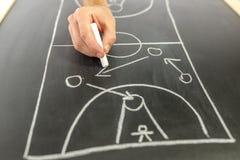 Strategia di pallacanestro del disegno Immagine Stock Libera da Diritti
