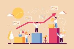 Strategia di pianificazione a lungo termine royalty illustrazione gratis