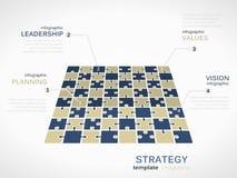 Strategia di prospettiva del campo Immagine Stock