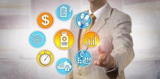 Strategia di Setting Drug Pricing del produttore immagine stock