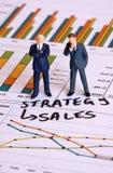 Strategia di vendite Fotografia Stock