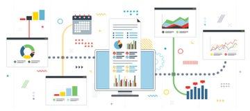 Strategia i monitorowanie zyski w rynku finansowym royalty ilustracja