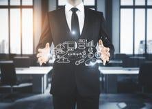Strategia i przywódctwo; biznes profesjonalista ogłoszenie towarzyskie rozwój i planowanie, i; rozwiązywanie problemów, rozwiązan zdjęcie stock