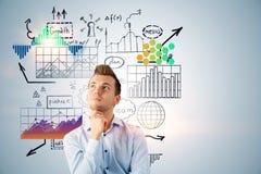 Strategia i przywódctwo; biznes profesjonalista ogłoszenie towarzyskie rozwój i planowanie, i; rozwiązywanie problemów, rozwiązan fotografia royalty free