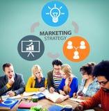 Strategia Marketingowa Oznakuje Handlowego reklama plan Concep fotografia stock