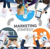 Strategia Marketingowa Oznakuje Handlowego reklama plan Concep obrazy royalty free