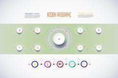 Strategia moderna del mercato di infographics Fotografia Stock Libera da Diritti