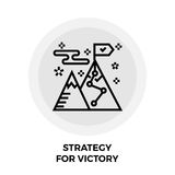 Strategia per Victory Line Icon Immagine Stock