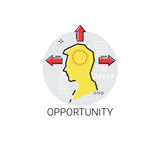 Strategia Person Profile Icon di opportunità Immagini Stock