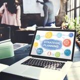 Strategia Planuje celu Proces Biznesowego pojęcie Obrazy Royalty Free