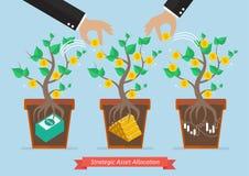 Strategic asset allocation. Business concept Stock Photo