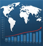 Strategic background with a paper map of the world Royalty Free Stock Photo